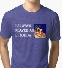 Street Fighter 2 Memories E.HONDA Tri-blend T-Shirt