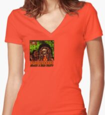 Voodoo Makes a Man Nasty! (Small Image/Rt Shoulder) Women's Fitted V-Neck T-Shirt