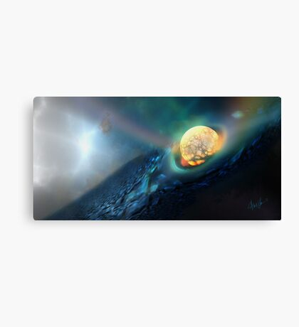 Upon Impact, deep space by Alma Lee Canvas Print