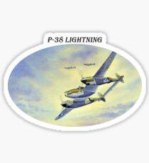 P-38 Lightning Aircraft Sticker