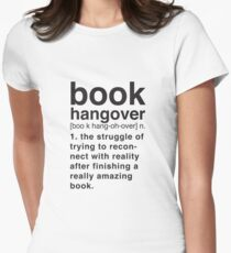 Book Hangover Meaning Womens Fitted T-Shirt