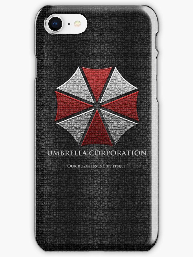 Umbrella Corporation Logo iPhone Cover by Ben Swinscoe
