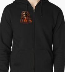 You Can Trust Me, I'm a Doctor (Small Image/Rt Shoulder) Zipped Hoodie