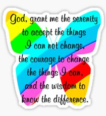 BEAUTIFUL BUTTERFLY SERENITY PRAYER Sticker