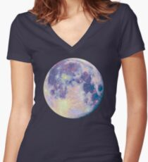Moon Fitted V-Neck T-Shirt