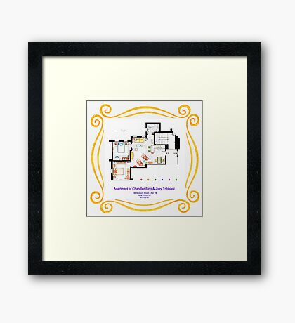 "Apartment of Chandler & Joey from ""FRIENDS"" Framed Print"