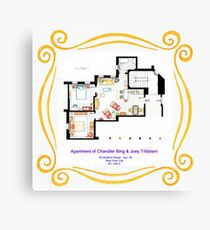 "Apartment of Chandler & Joey from ""FRIENDS"" Canvas Print"