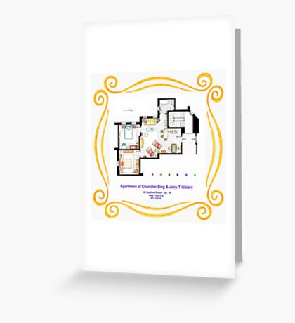 "Apartment of Chandler & Joey from ""FRIENDS"" Greeting Card"