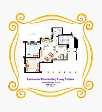 """Apartment of Chandler & Joey from """"FRIENDS"""" Photographic Print"""
