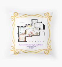 "Apartment of Chandler & Joey from ""FRIENDS"" Throw Pillow"