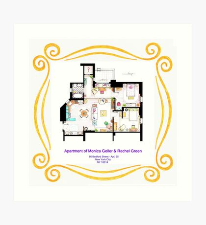 """Apartment of Monica and Rachel from """"FRIENDS"""" Art Print"""