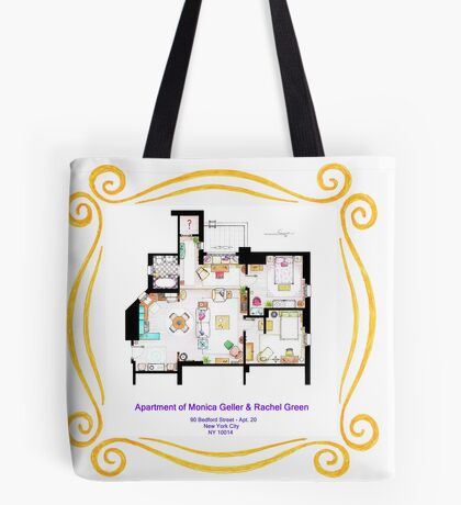 """Apartment of Monica and Rachel from """"FRIENDS"""" Tote Bag"""