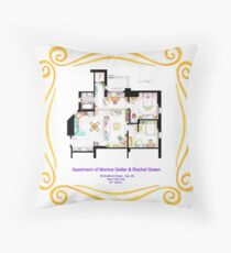"Apartment of Monica and Rachel from ""FRIENDS"" Throw Pillow"