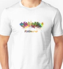Melbourne skyline in watercolor Unisex T-Shirt