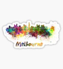 Melbourne skyline in watercolor Sticker