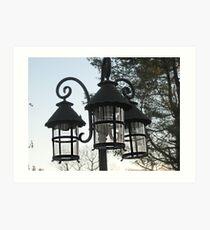 Wrought Iron Street Lamps Art Print