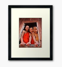 Greetings from Laos Framed Print