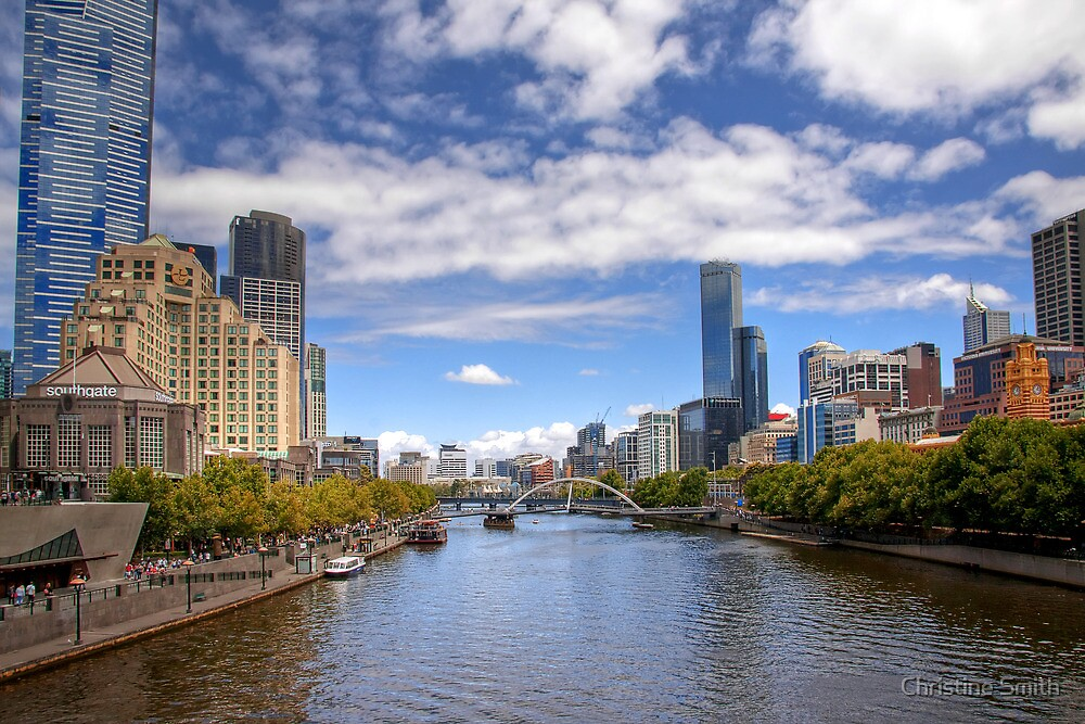 Looking Along the Yarra by Christine Smith