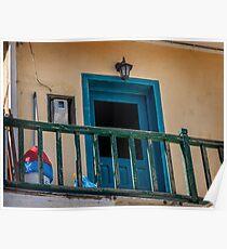 Typical Greek local apartment  Mandraki town Nisyros Island  Aegean Sea Poster