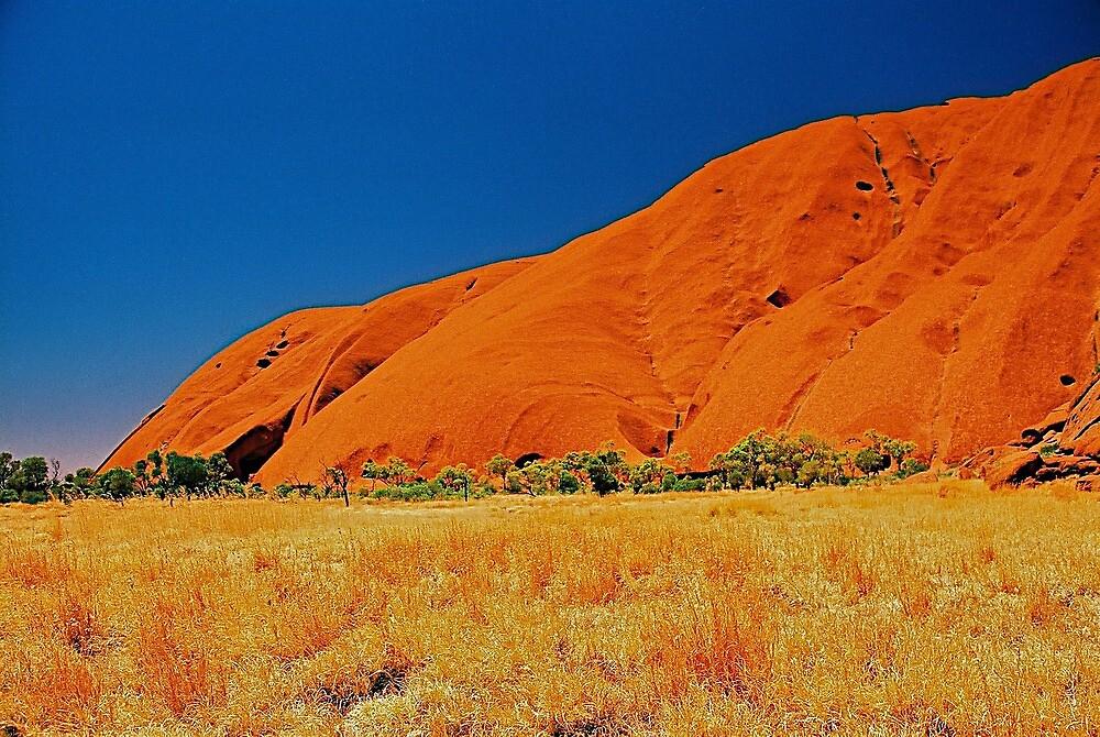 Uluru Slopes by AndyFeltonPix