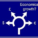 Economical roundabout sign by João Figueiredo
