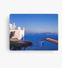 Typical Greek local Houses Nisyros Island  Aegean Sea Canvas Print