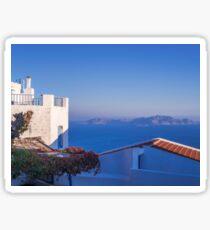 Typical Greek local Houses Nisyros Island  Aegean Sea Sticker