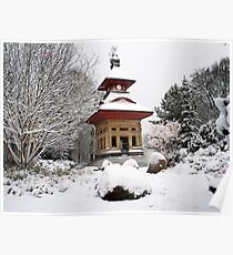 Observatory in The Snow 1 Poster