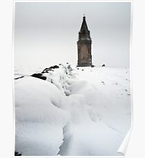 Hartshead Pike in the Snow Poster
