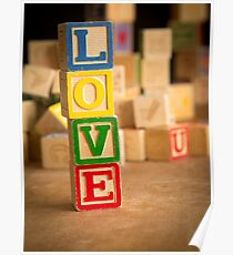 LOVE - Valentines Day Card Poster