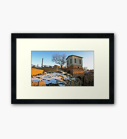 Down by the Old Mill Stream Framed Print