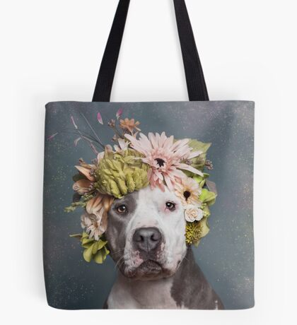 Flower Power, Pickles Tote Bag