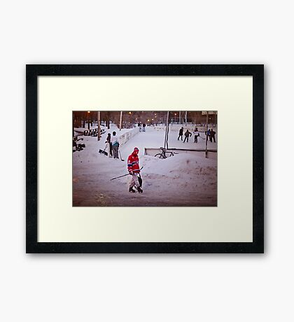 One Evening in Montreal Framed Print