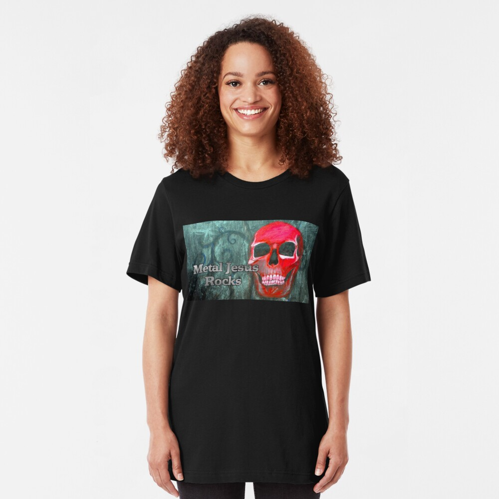 Metal Jesus Rocks Slim Fit T-Shirt