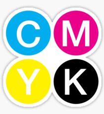 CMYK 4 Sticker