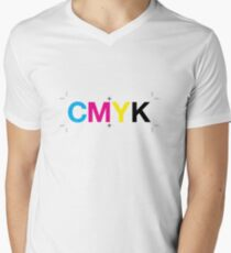 CMYK 7 Men's V-Neck T-Shirt