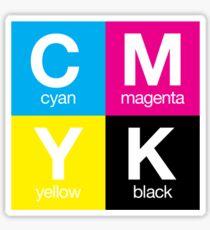CMYK 11 Sticker