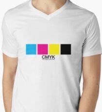CMYK 15 Mens V-Neck T-Shirt