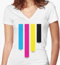 CMYK 16 Women's Fitted V-Neck T-Shirt
