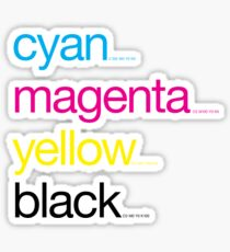 CMYK 17 Sticker
