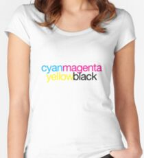 CMYK 18 Women's Fitted Scoop T-Shirt