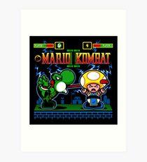 Mario Kombat II Art Print