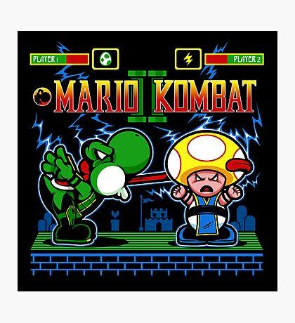 Mario Kombat II Photographic Print