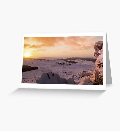 Hathersage Moor Sunrise Greeting Card