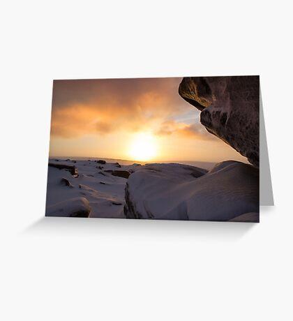 Winter Sunrise on Higger Tor Greeting Card