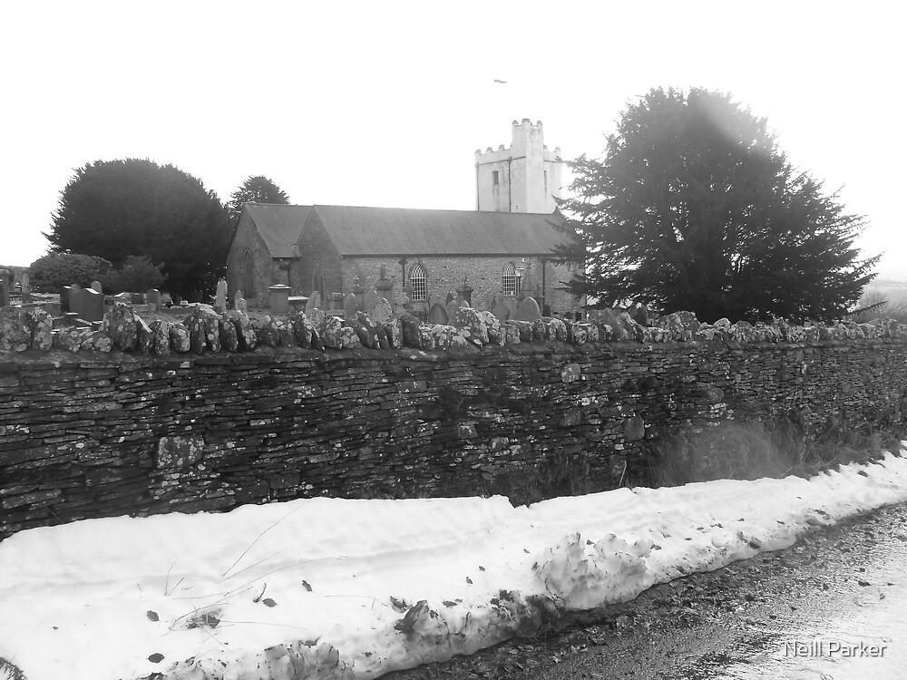 Mynyddislwyn Church In The Snow. by Neill Parker