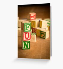 FUN - Alphabet Blocks Greeting Card