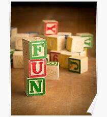 FUN - Alphabet Blocks Poster