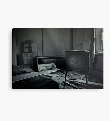 Too Much TV Will Kill You Metal Print