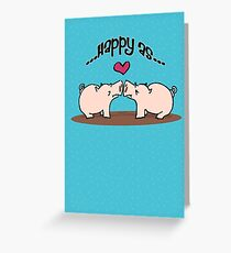 Happy as Pigs in Mud! Greeting Card